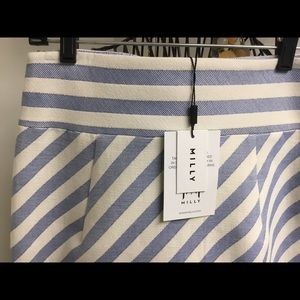 Milly Skirts - NEW Milly blue stripe mini skirt size 8 $250